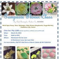 GUMPASTE FLOWER WORKSHOP