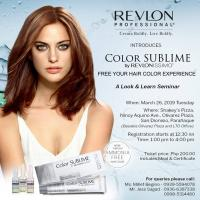 REVLON PROFESSIONAL INTRODUCES COLOR SUBLIME- PARANAQUE