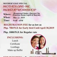MOTHER'S DAY SPECIAL: MOTHER AND ME MAKEUP WORKSHOP