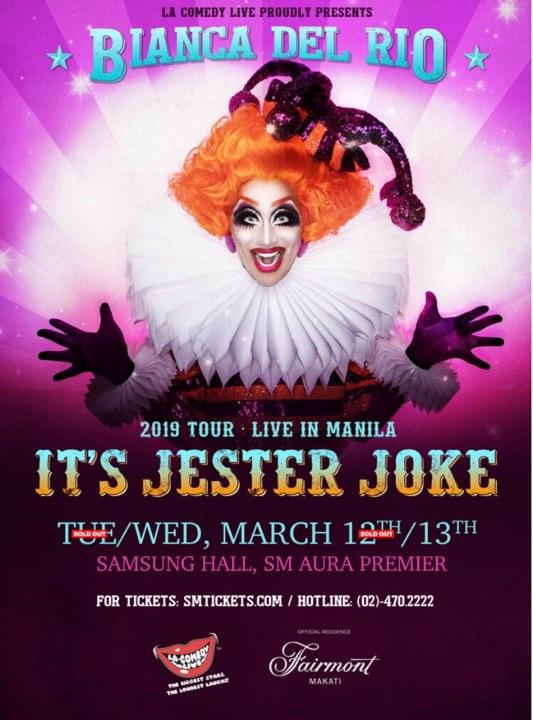 Bianca Del Rio Live in Manila - It's Jester Joke 2019 Tour