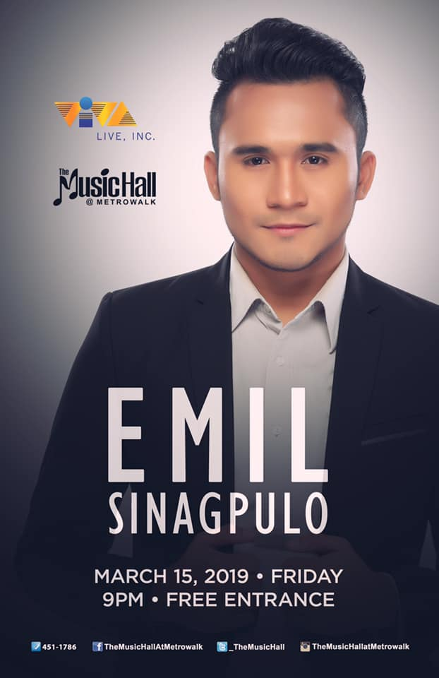 EMIL SINAGPULO AT THE MUSIC HALL