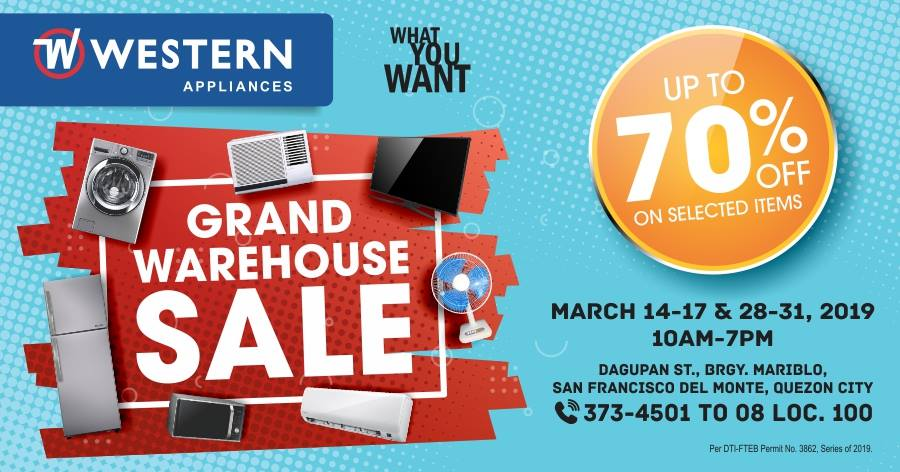 WESTERN GRAND WAREHOUSE SALE