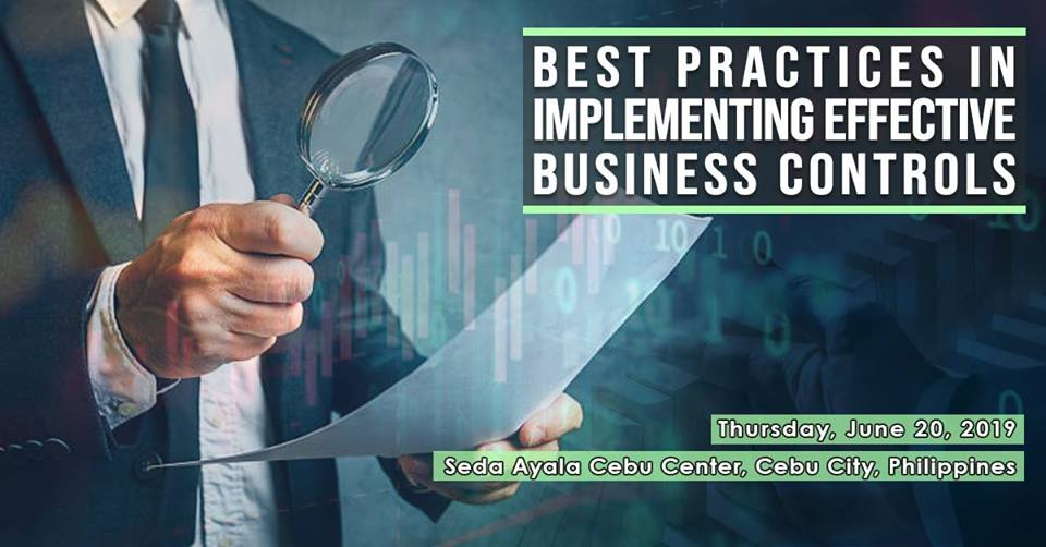 CEBU TRAINING | LEARN TO IMPLEMENT EFFECTIVE BUSINESS CONTROLS