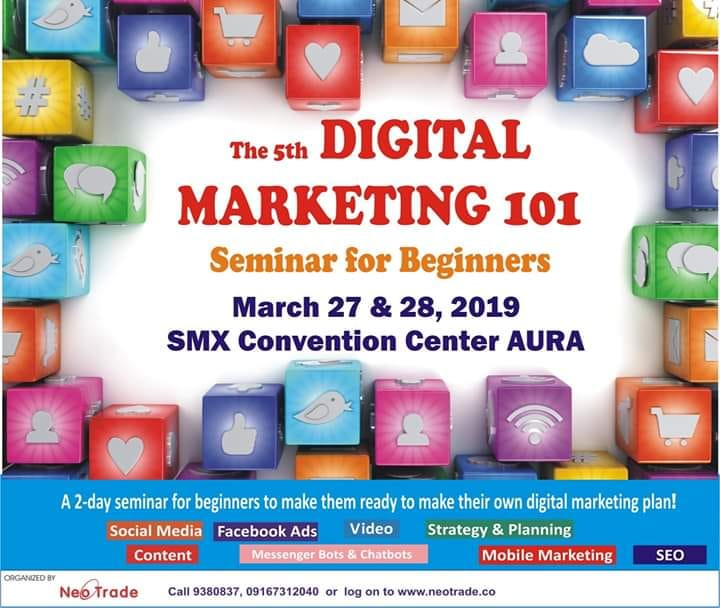THE 5TH DIGITAL MARKETING 101 SEMINAR FOR BEGINNERS 2019