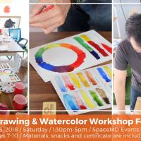 BASIC DRAWING & WATERCOLOR WORKSHOP FOR KIDS