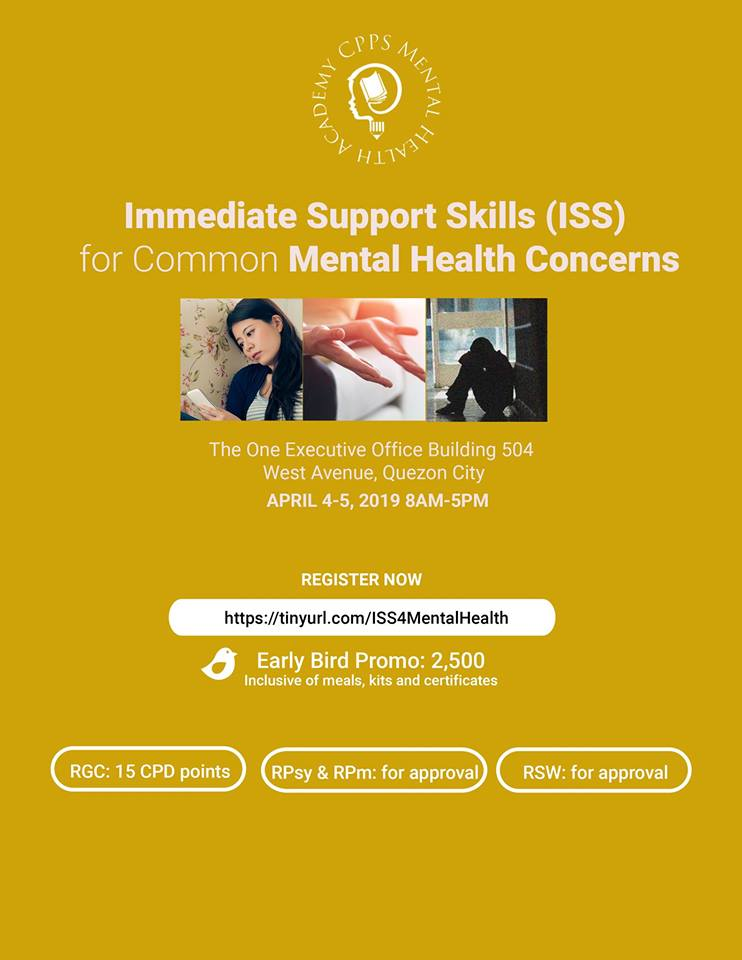 IMMEDIATE SUPPORT SKILLS (ISS) FOR COMMON MENTAL HEALTH CONCERNS