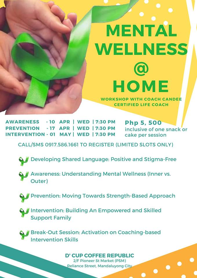 MENTAL WELLNESS AT HOME WORKSHOP
