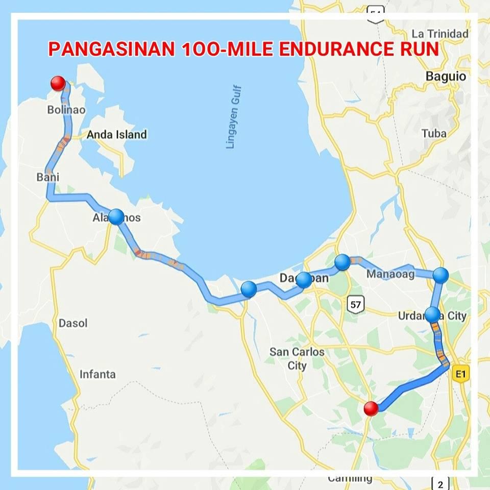 PANGASINAN 1OO-MILE ENDURANCE RUN