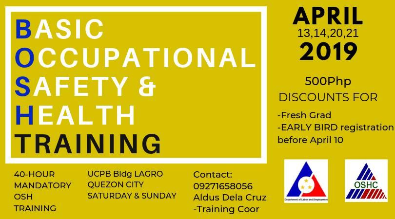 BASIC OCCUPATIONAL SAFETY & HEALTH TRAINING (BOSH)