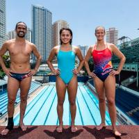 Red Bull Cliff Diving World Series Divers Orlando Duque, Rhiannan Iffland, and Xantheia Pennisi Share Secrets of Diving with Philippine National Diving Team