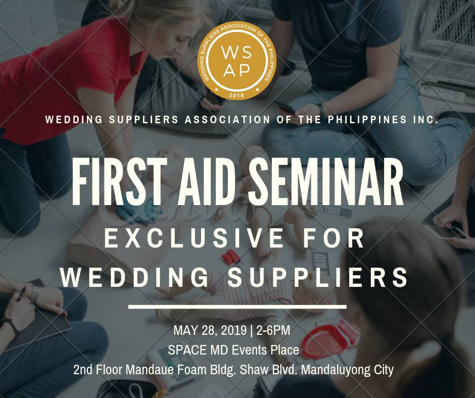FIRST AID SEMINAR EXCLUSIVE FOR WEDDING SUPPLIERS