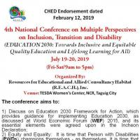 4TH NATIONAL CONFERENCE