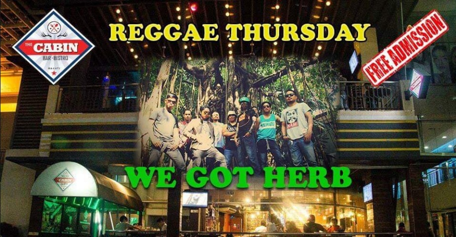 REGGAE THURSDAY WITH COLLIE HERB AT CABIN 420 BAR & BISTRO