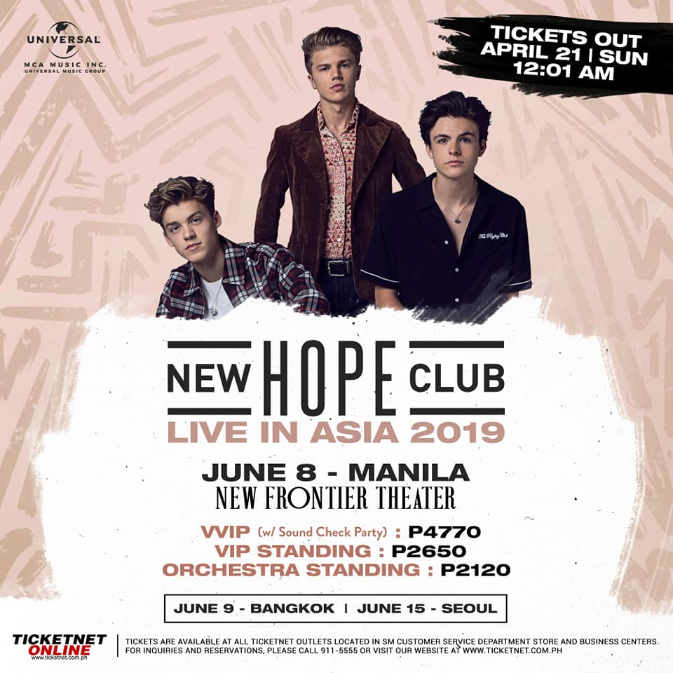 NEW HOPE CLUB LIVE IN ASIA 2019