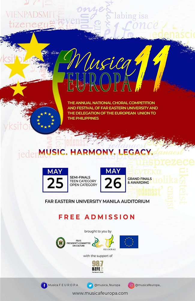 Musica FEUROPA Choral Competition By FEU President's Committee On