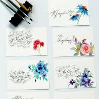 FLORAL PAINTING AND FLOURISHED LETTERS CALLIGRAPHY WORKSHOP