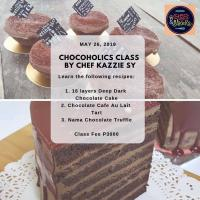 May 26: Chocoholic class by Chef Kazzie Sy