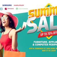 SUMMER SALE UP TO 70% OFF FURNITURE, APPLIANCES, CPU PERIPHERALS
