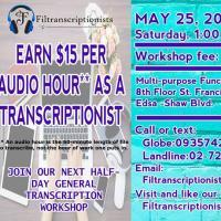 FILTRANSCRIPTIONISTS GENERAL TRANSCRIPTION WORKSHOP