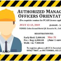 AUTHORIZED MANAGING OFFICERS SEMINAR