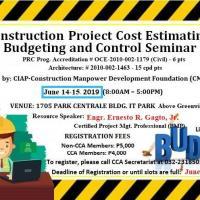 CONST. PROJECT COST ESTIMATING, BUDGETING & CONTROL SEMINAR