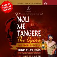 NOLI ME TANGERE, THE OPERA :  The People's Opera
