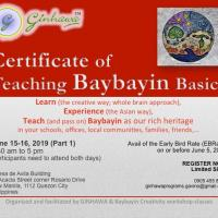 Certificate of Teaching Baybayin Basics