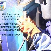 Orientation & Screening-SMAW NC II-Free Training
