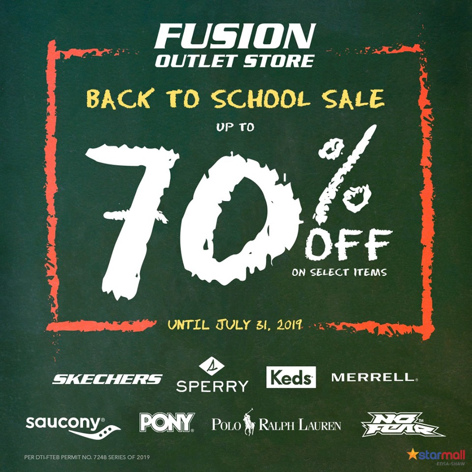 FUSION BACK TO SCHOOL SALE