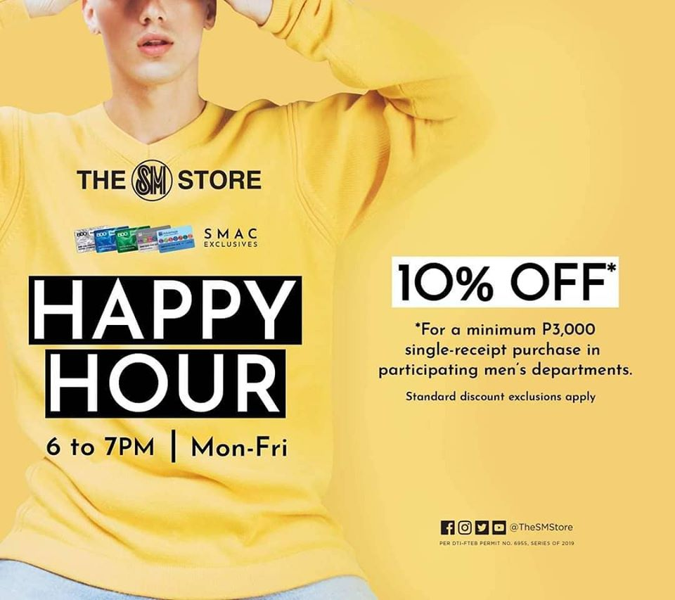 HAPPY HOUR FOR MEN'S MONTH
