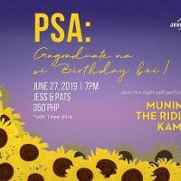 PSA: GAGRADUATE NA SI BIRTHDAY BOI! AT JESS & PAT'S