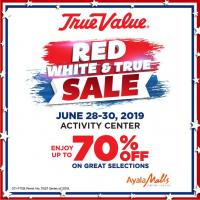 TRUE VALUE's Red, White & True Sale