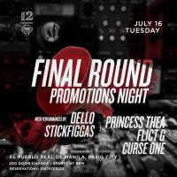 FINAL ROUND PROMOTIONS NIGHT AT 12 MONKEYS MUSIC HALL & PUB
