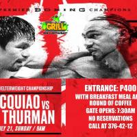 PACQUIAO VS. THURMAN LIVE AT OFF THE GRILL BAR AND RESTAURANT