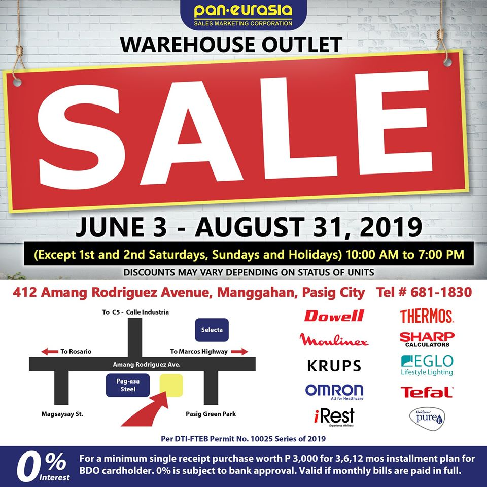 WAREHOUSE OUTLET SALE