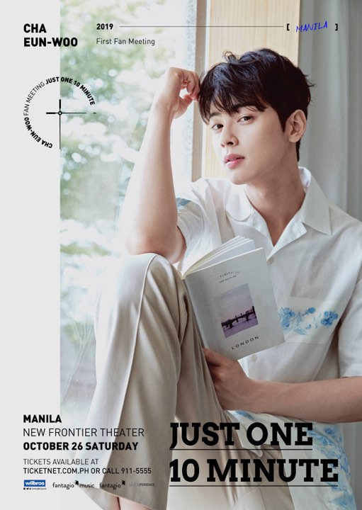 CHA EUN WOO First Fan Meeting Tour [Just One 10 Minute] in Manila