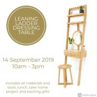 Leaning Ladder Dressing Table