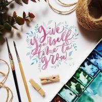 Watercolor Brush Calligraphy Workshop