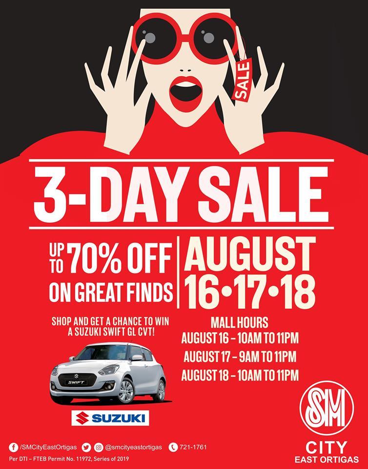 SM City East Ortigas 3 Day Sale