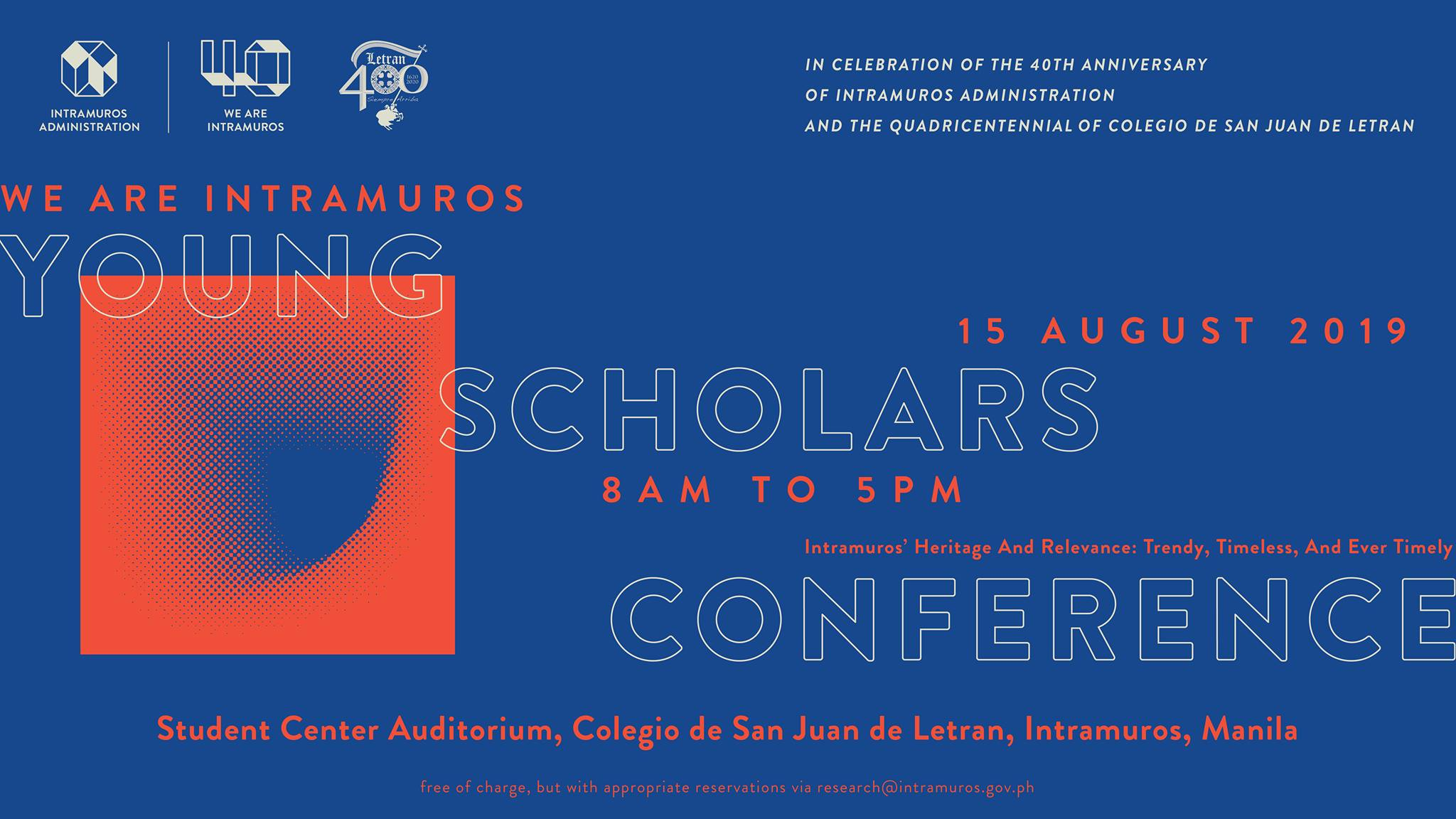 We Are Intramuros Young Scholars Conference