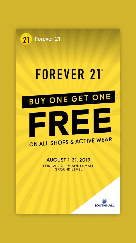 FOREVER 21 BUY ONE GET ONE FREE