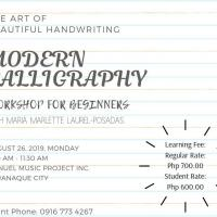 Modern Calligraphy Workshop for Beginners.
