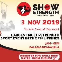Show of Strength Philippines 2019 - Athletes Registration