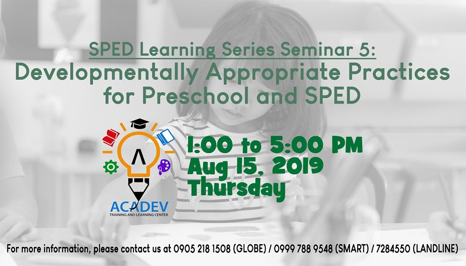 S5 Developmentally Appropriate Practices for Preschool and SPED