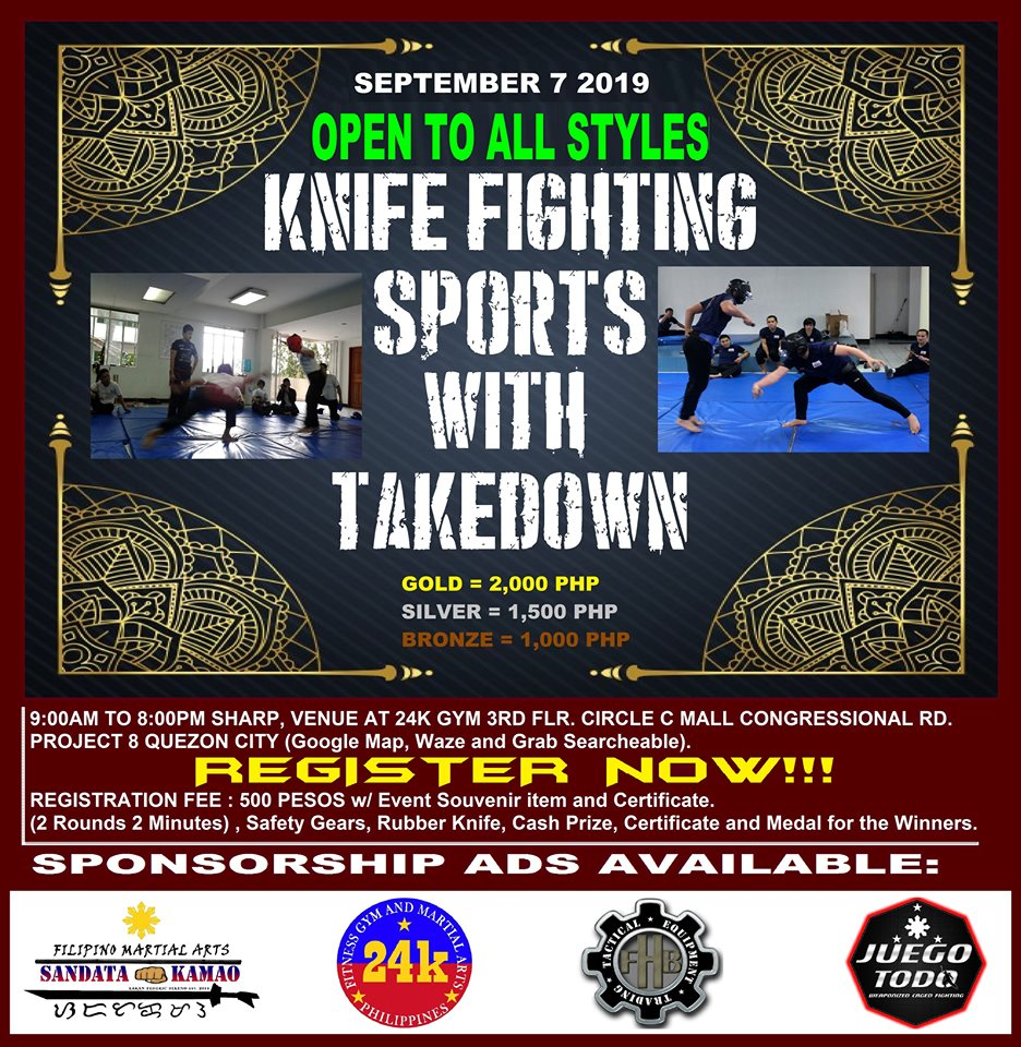 Knife Fighting Sports with Takedown