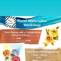 Floral Watercolor Workshop using three brushes