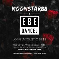 EBE DANCEL X MOONSTAR88 LONG ACOUSTIC SETS AT THE 70'S BISTRO