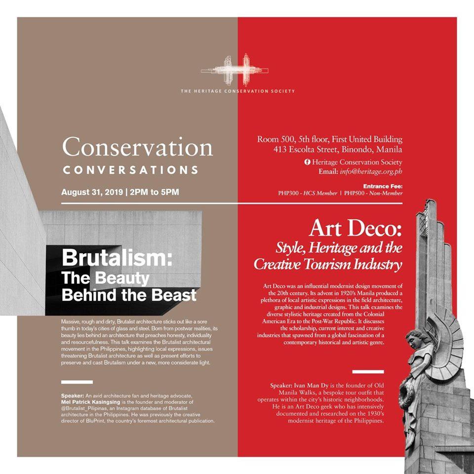 Conservation Conversations: Art Deco and Brutalist Architecture