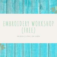 Free Hand-embroidery Workshop Pt. 3