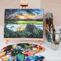 DIY Home Decor: Acrylic Landscape Painting